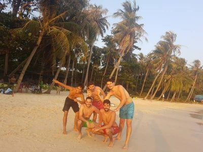 Phu Quoc Island Guide - Playing on the beach - May Rut Trong Island