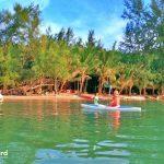 Clean and shallow water at Bai Dai - Casuarina Beach, Phu Quoc island, Vietnam